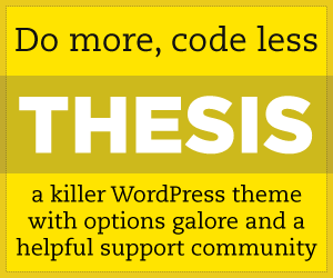Another Reason to Buy Thesis Theme